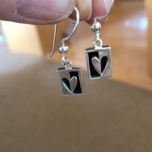 Jewelry - Adorable vintage '90s 925 sterling dangle earrings